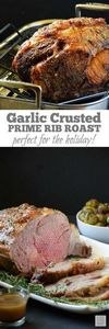 Garlic Crusted Prime Rib Roast | b - 275 Beef Recipes - RecipePin.com