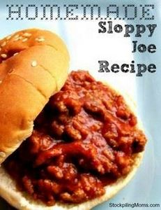 We love this Homemade Sloppy Joe r - 275 Beef Recipes - RecipePin.com
