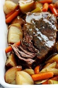 Juicy, tender slow cooked beef roa - 275 Beef Recipes - RecipePin.com