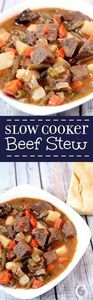 This Slow Cooker Beef Stew is a cl - 275 Beef Recipes - RecipePin.com