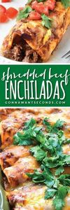 Shredded Beef Enchiladas-these are - 275 Beef Recipes - RecipePin.com