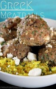Greek Meatballs-Creole Contessa - 275 Beef Recipes - RecipePin.com