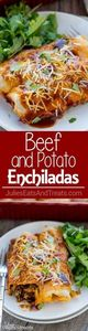 Beef and Potato Enchiladas Recipe  - 275 Beef Recipes - RecipePin.com