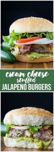 Cream Cheese Stuffed Jalapeno Burg - 275 Beef Recipes - RecipePin.com