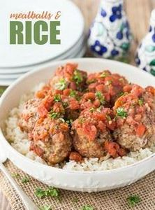 Meatballs & Rice - A simple tw - 275 Beef Recipes - RecipePin.com