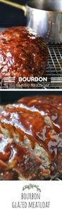 Bourbon Glazed Meatloaf: this is s - 275 Beef Recipes - RecipePin.com