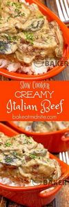 Slow cooked beef chunks in a cream - 275 Beef Recipes - RecipePin.com