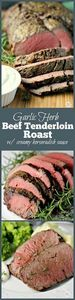 Garlic Herb Beef Tenderloin Roast  - 275 Beef Recipes - RecipePin.com