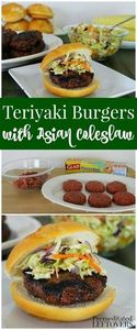 These Teriyaki Burgers with Asian  - 275 Beef Recipes - RecipePin.com