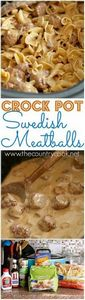 Crock Pot Swedish Meatball Recipe  - 275 Beef Recipes - RecipePin.com