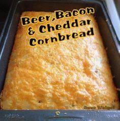 Beer, Bacon & Cheddar Cornbrea - 100 Beer And Alcohol Recipes - RecipePin.com