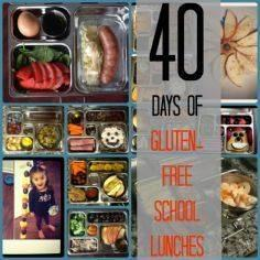 40 Days of Gluten Free School Lunc - 300 Bento Box Recipes - RecipePin.com
