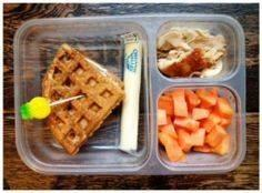 waffle sandwich with cream cheese, - 300 Bento Box Recipes - RecipePin.com