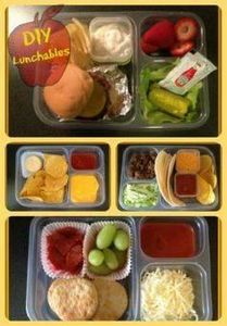 DIY Lunchables Cheeseburger, Nacho - 300 Bento Box Recipes - RecipePin.com