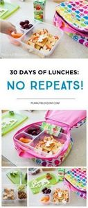 30 Days of school lunches: no repe - 300 Bento Box Recipes - RecipePin.com