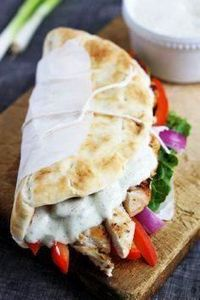 Easy Chicken Gyros with Tzatziki S - 300 Bento Box Recipes - RecipePin.com