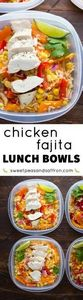 Chicken Fajita Lunch Bowls (Make A - 300 Bento Box Recipes - RecipePin.com