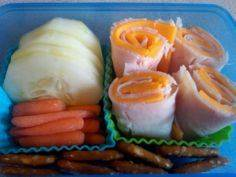 Turkey and cheese roll-ups (no tor - 300 Bento Box Recipes - RecipePin.com
