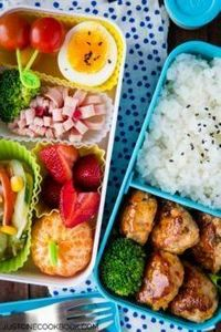 Chicken Meatball Bento | Easy Japa - 300 Bento Box Recipes - RecipePin.com