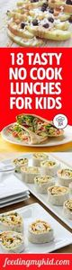 18 Tasty No Cook Lunches For Kids  - 300 Bento Box Recipes - RecipePin.com
