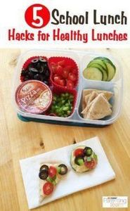 Hacks for healthy school lunches.