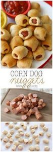 Corn Dog Nuggets - it's the family - 300 Bento Box Recipes - RecipePin.com