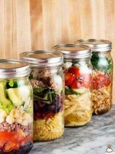 These Mason Jar Pasta Salads Will  - 300 Bento Box Recipes - RecipePin.com
