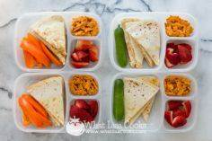 Simple Quesadillas: Flour tortilla - 300 Bento Box Recipes - RecipePin.com