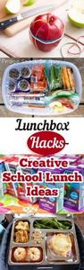 Lunchbox Hacks- Creative School Lu - 300 Bento Box Recipes - RecipePin.com