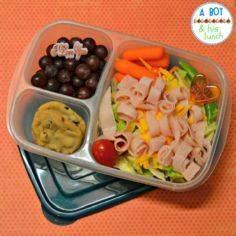 Turkey & cheese salad, grapes, - 300 Bento Box Recipes - RecipePin.com