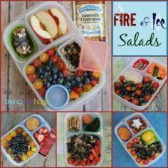 Colorful grown-up salads for work or on-the-go! - 300 Bento Box Recipes - RecipePin.com