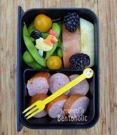 Chicken/ Rooster lunch ~ Becoming  - 300 Bento Box Recipes - RecipePin.com