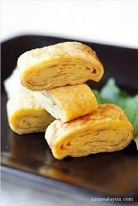 Japanese Rolled Omelet (Tamagoyaki - 300 Bento Box Recipes - RecipePin.com