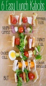 Six Easy Lunch Kabobs that are per - 300 Bento Box Recipes - RecipePin.com