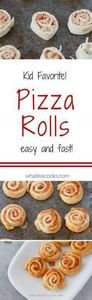 Pizza Rolls - on the table in 20 m - 300 Bento Box Recipes - RecipePin.com