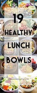 19 Healthy Lunch Bowls! These are  - 300 Bento Box Recipes - RecipePin.com