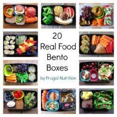 20 Real Food Bento Boxes - easy lu - 300 Bento Box Recipes - RecipePin.com