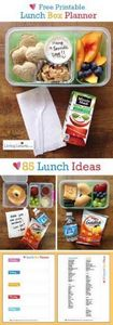 Free Printable School Lunch Box Pl - 300 Bento Box Recipes - RecipePin.com