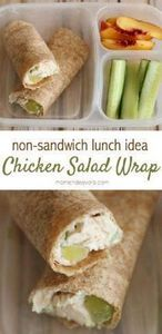 Healthy Chicken Salad Wrap - a gre - 300 Bento Box Recipes - RecipePin.com