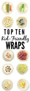Top 10 Kid-friendly Wraps. Great i - 300 Bento Box Recipes - RecipePin.com