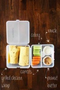 Chicken wrap + veggies and dips! # - 300 Bento Box Recipes - RecipePin.com