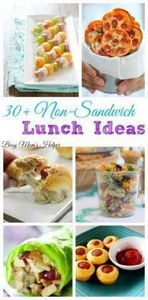 30 Non-Sandwich Lunch Ideas...thes - 300 Bento Box Recipes - RecipePin.com