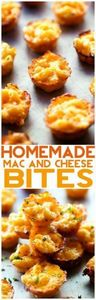 Homemade Mac and Cheese Bites... T - 300 Bento Box Recipes - RecipePin.com