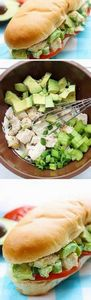 Chicken Avocado Sandwich | Healthy - 300 Bento Box Recipes - RecipePin.com