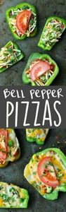 5. Bell Pepper Pizzas #healthy #po - 300 Bento Box Recipes - RecipePin.com
