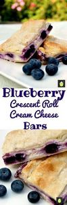 Blueberry Crescent Roll Cheesecake - 200 Delicious Blueberry Recipes - RecipePin.com