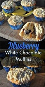 Blueberry muffins - 200 Delicious Blueberry Recipes - RecipePin.com