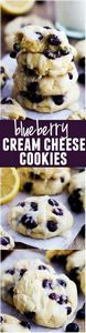 Blueberry Cream Cheese Cookies wit - 200 Delicious Blueberry Recipes - RecipePin.com