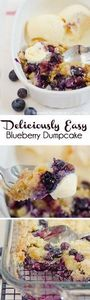 The most delicious Blueberry Dump  - 200 Delicious Blueberry Recipes - RecipePin.com