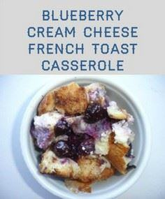 Blueberry Cream French Toast Casse - 200 Delicious Blueberry Recipes - RecipePin.com